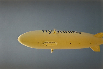 Photograph of a Zeppelin NT from below